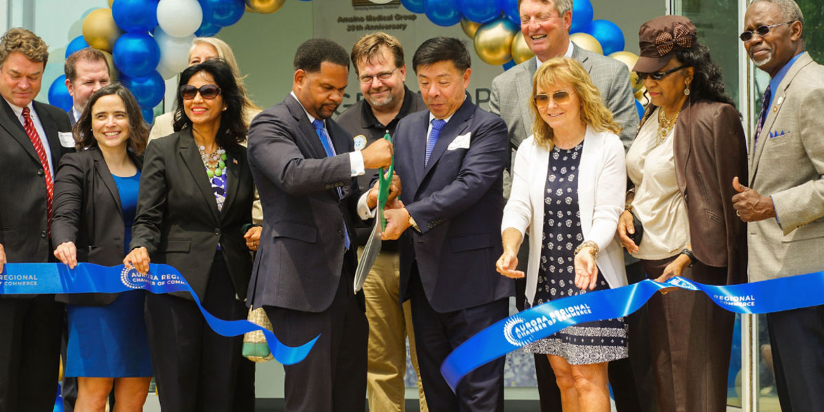 RIBBON CUTTING CEREMONY TO CELEBRATE GRAND OPENING OF AMSINO MEDICAL INC