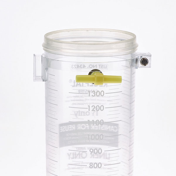 1. Select RECEPTAL® canister size and attach ACCU-MEASURE® bracket.