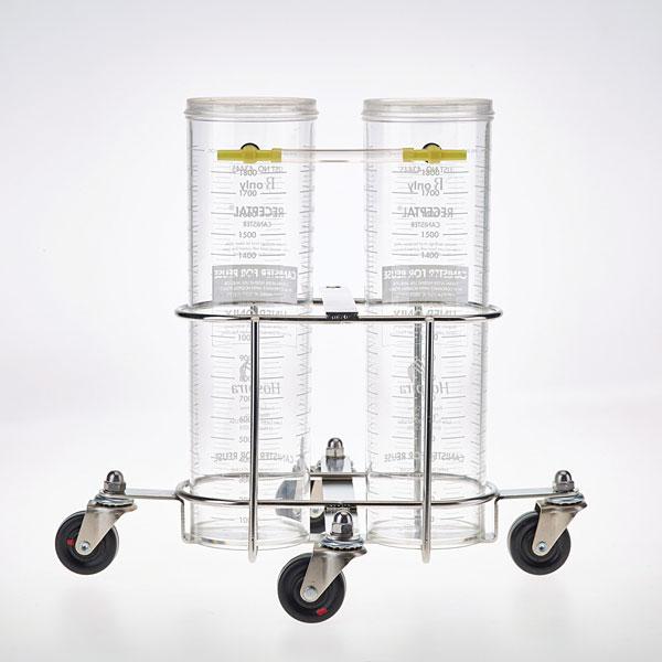 1. Seleccione el tamaño y el soporte del recipiente. Coloque los recipientes en el soporte.